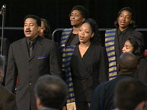 General Conference 2004: Wednesday morning worship. Video still by United Methodist Communications