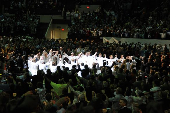 United Methodists gather for opening worship at the 2008 United Methodist General Conference, Fort Worth, Texas.