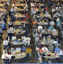Delegates to the 2012 United Methodist General Conference in Tampa, Fla., are sitting at round tables for the first time, a step designed to encourage better discussion of issues facing the the denomination's top legislative body. Meeting once every four years, General Conference is the only body that can speak as The United Methodist Church.