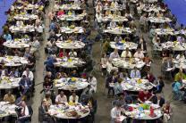 Delegates study legislation at the 2012 United Methodist General Conference in Tampa, Fla.
