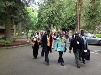 African delegates to The United Methodist Church's General Conference 2016 gather at Canby Retreat Center in Portland, Ore. The United Methodist Church Africa Initiative hosted the meeting. Photo by Jerry Kulah.