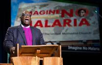 Bishop Gregory V. Palmer delivers the episcopal address during the 2016 United Methodist General Conference in Portland, Ore. Photo by Mike DuBose, UMNS