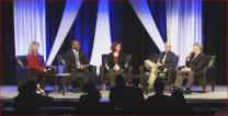 A panel of church communicators discuss telling the story of General Conference for their annual conferences at the Pre-General Conference briefing Jan. 20-22 in Portland, Oregon.