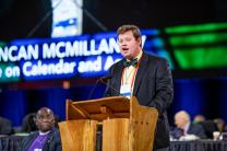Duncan McMillan serves as chairman of the Commission on the General Conference.