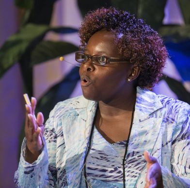 Priscilla Muzerengwa addresses the Game Changers Summit at the Opryland Hotel in Nashville, Tenn. Photo by Mike DuBose, UMNS