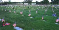 Fort Logan National Cemetery during Memorial Day weekend, 2006. Photo by Anthony Massey, Wikimedia Commons.