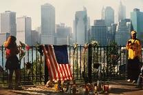 A photo taken following the September 11, 2001 terrorist attacks in New York shows a memorial on the street. Photo courtesy of Jennifer Rodia, United Methodist Communications.
