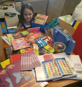 Abbagail Henderson donated her allowance to purchase school supplies for a first-year teacher.