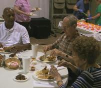 Members of Grace United Methodist Church in Mt. Juliet, Tenn. gather for fried fish and fellowship. Photo courtesy of United Methodist TV.