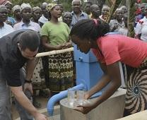 Members of The Gathering United Methodist Church install a well in a rural community in Mozambique. Image from video courtesy of The Gathering.