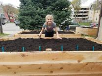 Silja Bijnagte organized volunteers to plant gardens to provide fresh vegetables for a food bank near her home in Minneapolis, MN. She attends Lake Harriet United Methodist Church. Image courtesy of the Bijnagte family