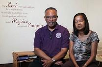 The Rev. Clifton Conrad and his wife Kathleen talk about how 2016 flood waters damaged their Baton Rouge home but spared a sacred prayer space. Video image courtesy of the Louisiana Annual Conference.