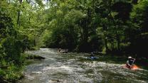 River church welcomes paddlers on the Nantahala River in western North Carolina. Video image by United Methodist Communications.