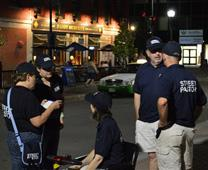 Street pastors on patrol in downtown Bangor, ME. Photo by Beth DiCocco, courtesy of New England Conference.