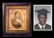 Photo illustration portrays Arnola Verna Triplett, mother of Bishop James Swanson. She was killed when he was 18.  Illustration by Kathleen Barry, United Methodist Communications. Photos courtesy of Bishop James E. Swanson.