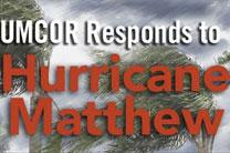 The United Methodist Committee on Relief (UMCOR) acted quickly in response to the destruction and death caused by Hurricane Matthew in the Caribbean, notably in Haiti. Artwork courtesy of UMCOR