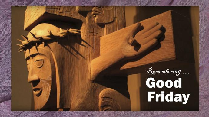 Detail of Lent/Easter totem pole in Alaska carved by the Rev. David Fison. UMCom Photo Illustration by Kathleen Barry