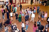 Attendees flock to the dance floor in anticipation of an unforgettable night of dancing and community connections during Mount Pisgah United Methodist Church's