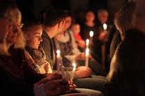 Worshipers participate in a candlelight service at Ulm United Methodist Church, Baden-Wurttemberg, Germany. Photo by Michael Mayer, UMC Germany.