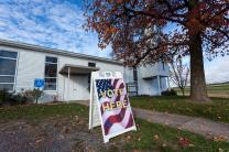 Roaring Creek Valley United Methodist Church near Catawissa, Pennsylvania on Election Day 2013. Photo by Paul Weaver, Flickr.