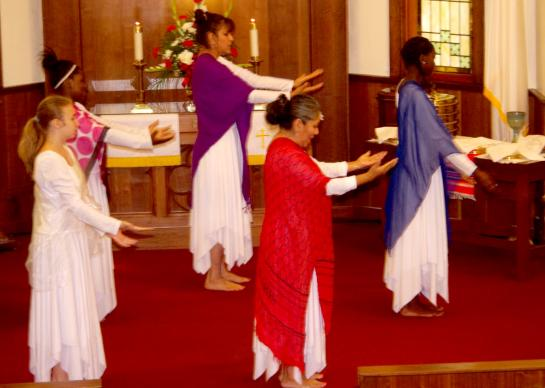 The rich diversity of cultures in the congregation at Centennial Multicultural UMC are incorporated into worship services.