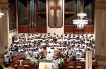 The Sanctuary Choir leads Easter worship at Belmont United Methodist Church in Nashville, Tenn. in 2013. Photo by Josh Stanley, courtesy of Belmont United Methodist Church.