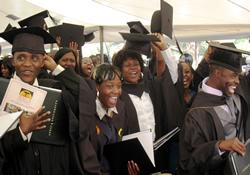 When more than 300 graduates received their diplomas from Africa University in 2010, they represented 21 African countries. It was the most diverse graduating class in the institution's history at that time.