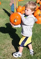 The kids-only section is a favorite part of the Pumpkin Patch at Southern Hills United Methodist Church in Tulsa, Okla.