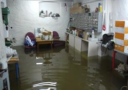 Flood waters innundated the Christian Academy for Health and Social Care Professions that sits on the Saale River in Halle, Germany. Trainees became flood volunteers when classes were suspended.