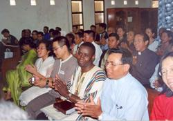 Delegates to the Methodist Mission in Cambodia gathered in Phnom Penh to celebrate their first annual meeting in January 2011.