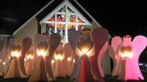 Angels fill the yard of North Raleigh United Methodist Church in North Carolina during the Advent and Christmas seasons. Photo by Sue Ellen Rosen