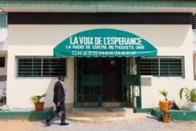 Voice of Hope Radio Station, Abidjan, Cote d'Ivoire. Photo by Mike Dubose, United Methodist Communications