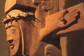 Easter Totem Pole, Anchorage, Alaska. Photo courtesy of United Methodist Television