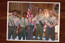 The Northern Ridge Boy Scout District (cities of Roswell, Alpharetta, Johns Creek, Milton) named five young men Eagle scouts in 2015. They are Jonathan Lian, Troop 143, Johns Creek United Methodist Church, Joshua Gundugollu, Troop 3143, Johns Creek United Methodist Church, Justin Hentz, Troop 1134, St. Peter Chanel Catholic Church, Jeffrey Kohn, Troop 841, St. Thomas Aquinas Catholic Church, and Richard DeKold, Troop 143, Johns Creek United Methodist Church.