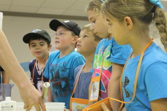 Children work on a project during VBS at First United Methodist Chuch, Wichita Falls, Texas. Photo courtesy First United Methodist Church.