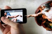 Image of Sistine Chapel scene for social media. Edited from original, United Methodist Communications.