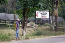A sign at the entrance to the city of Danlí, Honduras, offers an invitation to visit the Central United Methodist Church. The Rev. Jose Roberto Peña, the church's pastor, said,