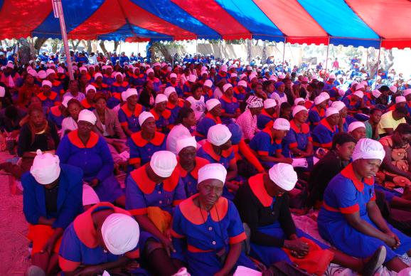 More than 20,000 women in the Zimbabwe Episcopal Area gathered for their annual Ruwadzano Rwe Wadzimai conventions held over two weekends earlier this month. The large camp meeting revivals date back nearly seven decades. Photo courtesy Taurai Emmanuel Maforo