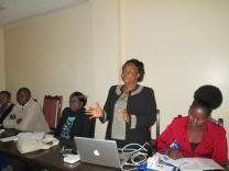 United Methodist regional missionary Grace Musuka speaks at the one-day maternal and child heath workshop in Harare in June. Photo courtesy Kudzai Chingwe