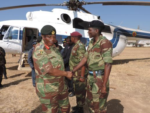 Gen. Constantino Chiwenga of the Zimbabwe National Army arrives for the dedication of the Early Childhood Development Complex in Nyadire, Zimbabwe. Photo courtesy of Taurai Emmanuel Maforo.