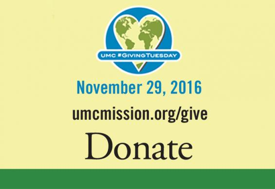 The United Methodist Board of Global Ministries encourages giving to the denomination's Advance designated-giving projects on #GivingTuesday. Logo courtesy of the General Board of Global Ministries