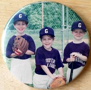 For one glorious T-ball season, all three of my children played on the same team. Photo © Fenoglio family archives.