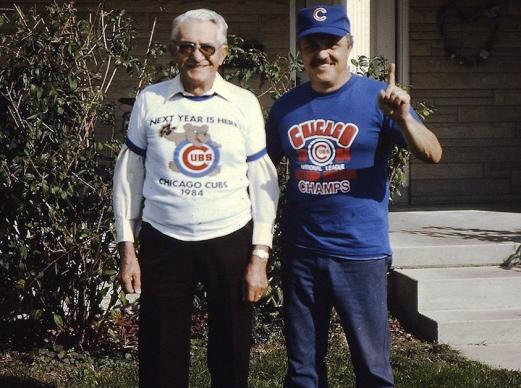 Baseball delivers strong personal and family values, especially the need for a strong sense of faith when cheering for the Chicago Cubs. Photo © Fenoglio family archives.