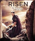 Risen is a 2016 film about the events of Jesus crucifixion and the aftermath. Poster image courtesy of Sony Pictures.