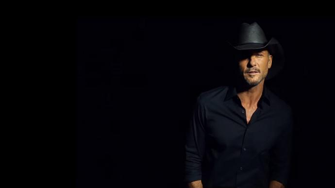 "Country music star Tim McGraw sings ""Humble and Kind"" in music video.  Video image courtesy Vevo."