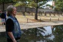 """Ruth Schwab says when the Oklahoma City National Memorial was being designed and developed, she never dreamed it could be a place people would want to come to. """"Visitors come from all over the world,"""" she says. """"It's a tranquil place where I feel peace, even though it marks the place where so many suffered so much."""