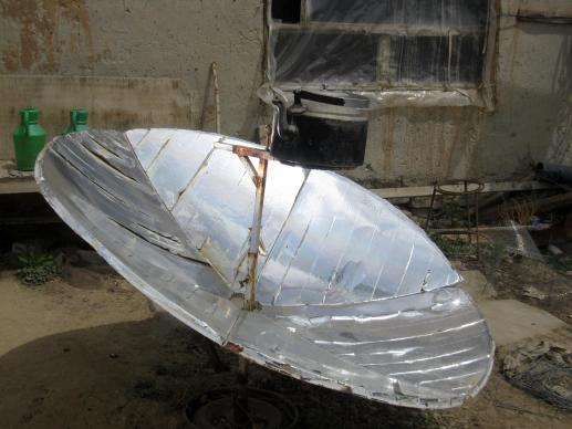 A solar heater for hot water is among the improvements for hygiene, sanitation and water developed through a community development program in Lal, Afghanistan.