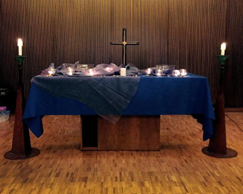 Canon Chapel at Emory University's Candler School of Theology set for a service of prayer and reflection focused on Kelly Gissendaner and other inmates sentenced to the death penalty.