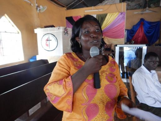 Sallay Bazzy said The United Methodist Church is the very first church denomination to start teacher training in preparation for schools reopening in Makeni.