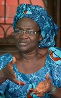 Dorcas Adou is president of the United Methodist Women in the Abidjan District of Côte d'Ivoire.